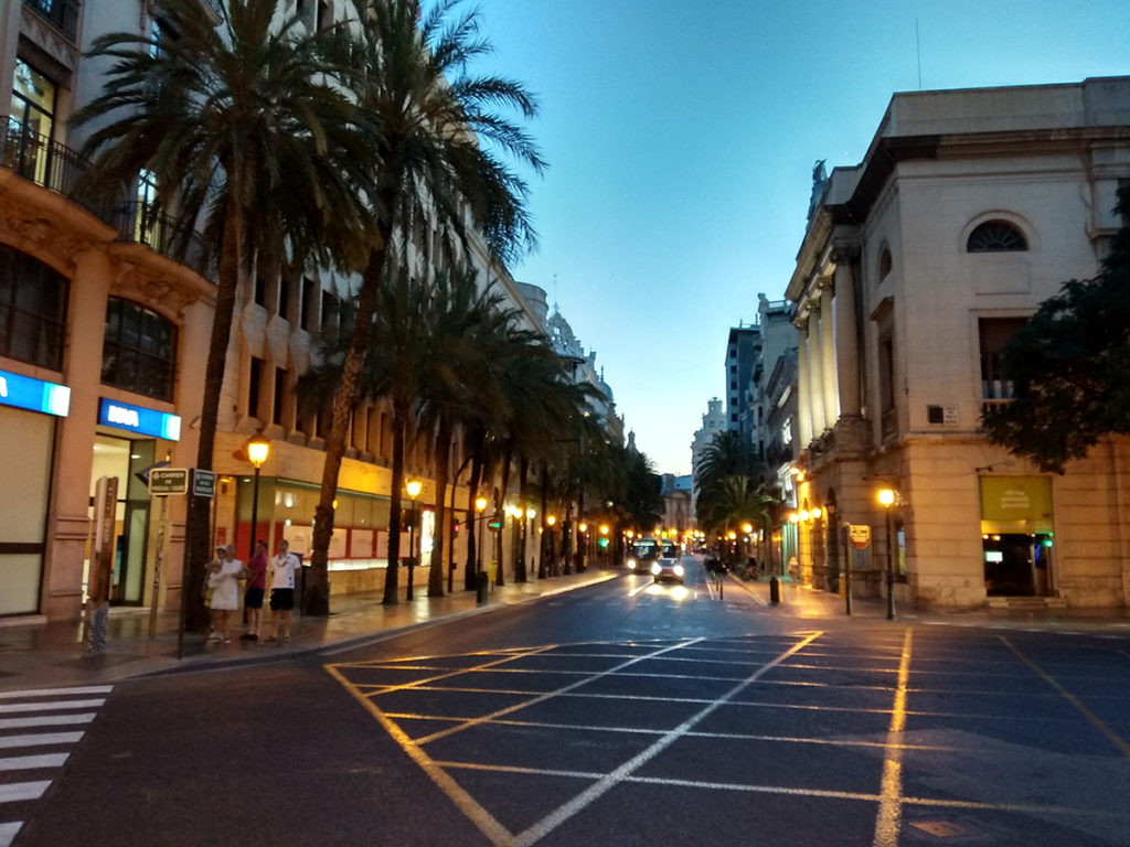 Valencia Spain Night Street